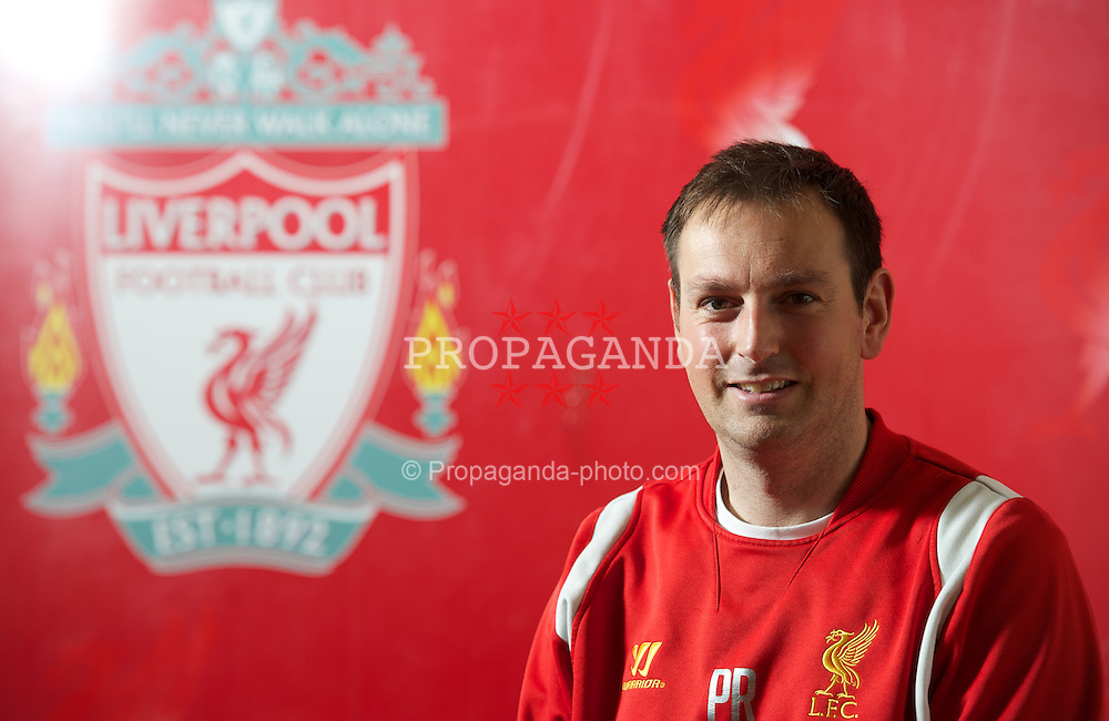 KIRKBY, LIVERPOOL - Tuesday, April 23, 2013: Liverpool Football Club's Assistant Academy manager and Head of education & welfare Phil Roscoe photographed at the club's Kirkby Academy. (Pic by David Rawcliffe/Propaganda)