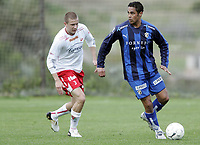 Fotball<br /> La Manga - Spania<br /> 02.02.2009<br /> Stabæk v Fredrikstad 3-2<br /> Foto: Morten Olsen, Digitalsport<br /> <br /> Daniel Nannskog - Stabæk<br /> Patrik Gerrbrand - FFK
