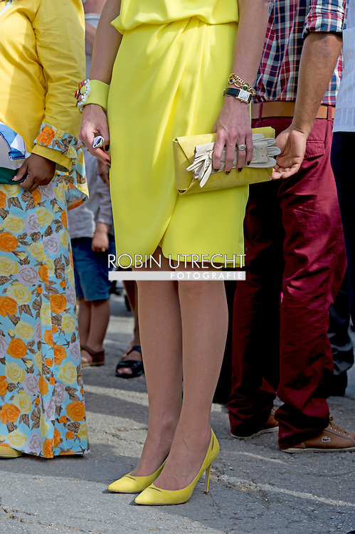 30-4-2015 BONAIRE - King Willem-Alexander and Queen Maxima of The Netherlands visits the Dia di Rincon at Bonaire, 30 April 2015. Dia di Rincon is an annual holiday in village Rincon with local cultural traditions. The king and queen visit in the morning the Chi Chi tan Museum, former house of doctor Tan and his wife Chi Chi where the family build every time with the birth of an new child a new room. COPYRIGHT Robin Utrecht