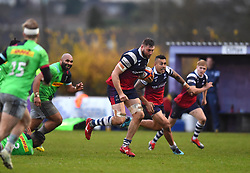 Nick Haining of Bristol Bears United - Mandatory by-line: Paul Knight/JMP - 02/12/2018 - RUGBY - Clifton RFC - Bristol, England - Bristol Bears United v Harlequins - Premiership Rugby Shield