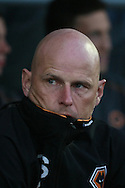Picture by David Horn/Focus Images Ltd +44 7545 970036.30/08/2012.Stale Solbakken, Wolverhampton Wanderers Manager looks on during the Capital One Cup match at Sixfields Stadium, Northampton.