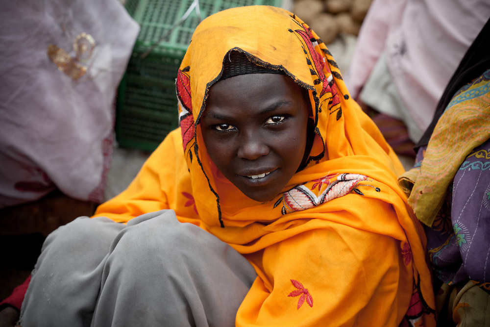 Muslim girl at Dinsho market in the Bale Mountains of Ethiopia
