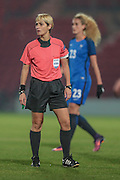 Graziella Pirriatore (Referee) during the International Friendly match between England Women and France Women at the Keepmoat Stadium, Doncaster, England on 21 October 2016. Photo by Mark P Doherty.