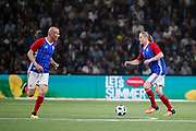 Emmanuel Petit (France 98), Zinedine Zidane (France 98) during the 2018 Friendly Game football match between France 98 and FIFA 98 on June 12, 2018 at U Arena in Nanterre near Paris, France - Photo Stephane Allaman / ProSportsImages / DPPI
