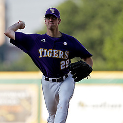 06 June 2009:  LSU pitcher, Louis Coleman (29) in action during a 5-3 victory by the LSU Tigers over the Rice Owls in game two of the NCAA baseball College World Series, Super Regional played at Alex Box Stadium in Baton Rouge, Louisiana. The Tigers with the win advance to next week's College Baseball World Series in Omaha, Nebraska.