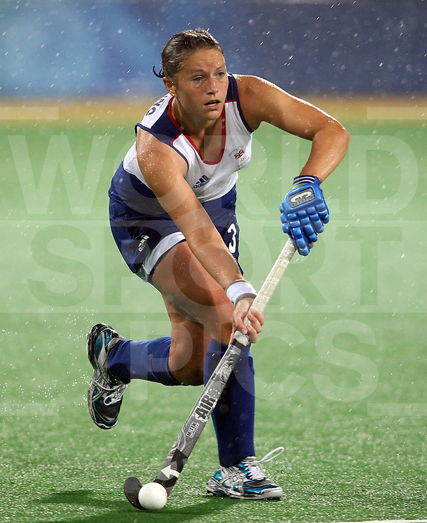 Lisa Wooding of Great britain, Great Britain Vs Germany Day 2 at the ..Beijing Olympic Green Hockey Stadium 10-8-08  ..Photo: Grant Treeby/WSP