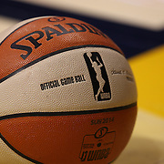 An official WNBA Spalding basketball during the Connecticut Sun Vs Seattle Storm WNBA regular season game at Mohegan Sun Arena, Uncasville, Connecticut, USA. 23rd May 2014. Photo Tim Clayton