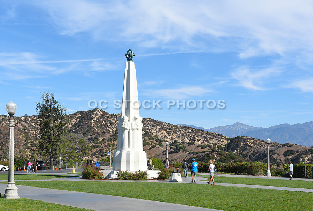Astronomers Monument At Griffith Park Observatory