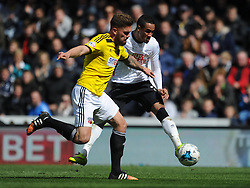 Tom Ince Derby County, Derby County v Brentford, Sy Bet Championship, IPro Stadium, Saturday 11th April 2015. Score 1-1,  (Bent 92) (Pritchard 28)<br /> Att 30,050