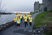 Pieta House, Centre for the Prevention of Self-harm or Suicide will be holding its eighth Darkness into Light charity 5k walk/run this year and for the second time KINVARA is hosting the event.&nbsp; We will be hosting Darkness Into Light on 7th May 2016 while it is still dark at 4.15  and finishing as dawn is breaking at 5.30am approximately.<br /> <br /> The 5 kilometre circuit will commence at the Astro pitch at Kinvara National School. Runners and walkers veer left coming out of Kinvara National School and proceed down the main street. From there the runners and walkers will continue along the N67 in the direction of Dunguaire Castle. Runners and walkers will then turn onto R367(Ardrahan Road) on their right and from there proceed approx. 1 KM and turn left onto Green Road.They will then proceed to rejoin theN67 at the Green Road junction on the northeast of Dunguaire Castle. The participants will proceed back towards Kinvara village along the N67 until returning to the original starting point at the Astro pitch at Kinvara National School.<br /> At the Launch were Nicole Heanen,Bronagh O'Driscoll, Sam Heanen Ethan Sexton with Jennifer Mongan, Noleen Heanen, Hilary Sexton Claire Shiels and Peter Deego.  Photo:Andrew Downes, xposure.