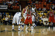 November 29, 2008: San Diego State's Richie Williams (3) defends ball handler Hampton's Rashad West (3) in the championship game of the 2008 Great Alaska Shootout at the Sullivan Arena.  San Diego State would keep Hampton scoreless for most of the first 7 minutes of the game and never look back on the Aztec's run to the win Saturday night.