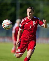 HAVERFORDWEST, WALES - Saturday, June 14, 2014: Wales' Loren Dykes in action against Turkey during the FIFA Women's World Cup Canada 2015 Qualifying Group 6 match at the Bridge Meadow Stadium. (Pic by David Rawcliffe/Propaganda)