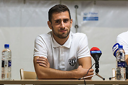 Alen Kozar of Mura during press conference after Football match between NS Mura (SLO) and Maccabi Haifa (IZR) in First qualifying round of UEFA Europa League 2019/20, on July 18, 2019, in Stadium Fazanerija, Murska Sobota, Slovenia. Photo by Blaž Weindorfer / Sportida