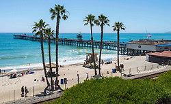 June 14, 2017 - San Clemente, California, USA - A view of the beach and San Clemente Pier on Wednesday, June 14, 2017. The Heal the Bay's new beach report card lists the San Clemente Pier area in San Clemente, as one of the ten worst in the state for bacteria pollution..(Photo by Mark Rightmire,Orange County Register/SCNG) (Credit Image: © Mark Rightmire, Mark Rightmire/The Orange County Register via ZUMA Wire)
