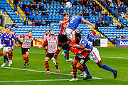 Carlisle United Defender Tom Miller attacks the corner during the Sky Bet League 2 match between Carlisle United and Exeter City at Brunton Park, Carlisle, England on 17 October 2015. Photo by Craig McAllister.