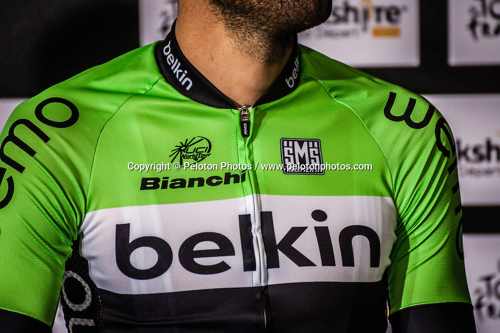 Santini jersey of Belkin Pro Cycling Team, Tour de France, Teams Presentation, UCI WorldTour, 2.UWT, Leeds, United Kingdom, 3rd July 2014, Photo by Pim Nijland