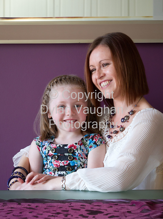 20/4/2011.Avril Hitchens pictured at her home in Waterford with her daughter Kayla aged 5..Picture Dylan Vaughan