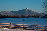 Winter scenes on a sub-zero morning in Lake Placid, N.Y.