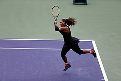 March 10, 2018 - Indian Wells, CA, U.S. - INDIAN WELLS, CA - MARCH 10: Serena Williams ( USA ) hits a backhand during the second round of the BNP Paribas Open on March 10, 2018, at the Indian Wells Tennis Gardens in Indian Wells, CA. (Photo by Adam  Davis/Icon Sportswire) (Credit Image: © Adam Davis/Icon SMI via ZUMA Press)
