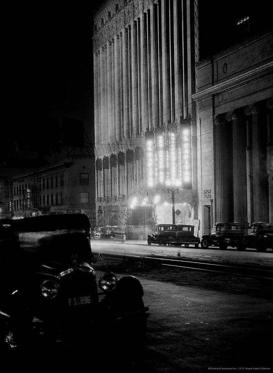 Hollywood Street at Night, California, 1926