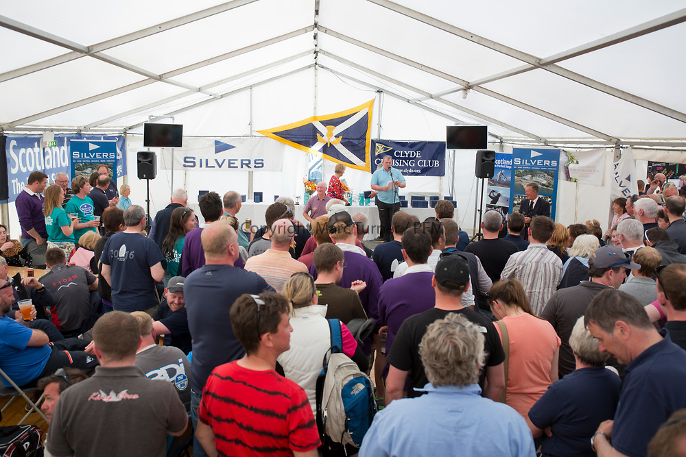 Silvers Marine Scottish Series 2017<br /> Tarbert Loch Fyne - Sailing<br /> <br /> Prizegiving<br /> <br /> Credit: Marc Turner / CCC