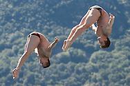 Team RUSSIA - NIKOLAEV Nikita MOLCHANOV Ilia<br /> Bolzano, Italy <br /> 22nd FINA Diving Grand Prix 2016 Trofeo Unipol<br /> Diving<br /> Men's 3m synchronised springboard final<br /> Day 03 17-07-2016<br /> Photo Giorgio Perottino/Deepbluemedia/Insidefoto