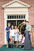 The Kennedys, from Houston, Tx, spent a night at the Carolina Inn on their way to a caostal vacation.  (L to R) Alex, Anna Grace, Christy, Lexi, and Zach.