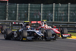 August 27, 2017 - Spa, Belgium - 06 MARKELOV Artem from Russia of Russian Time overtaking 02 FUOCO Antonio from Italy of Prema Racing during the FIA  Formula 2 championship at Circuit de Spa-Francorchamps on August 27, 2017 in Spa, Belgium. (Credit Image: © Xavier Bonilla/NurPhoto via ZUMA Press)