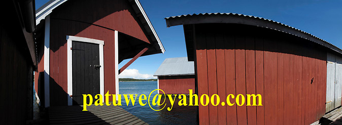Scandinavia Finland The Turku Archipelago. Houtskar wooden boathouse
