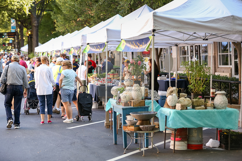 The Farmers Market along Main Street in downtown Greenville, South Carolina.