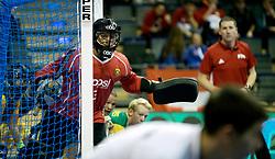 BERLIN - Indoor Hockey World Cup<br /> Men: Russia - South Africa<br /> foto: McCATHIE Chris (GK).<br /> COPYRIGHT WILLEM VERNES
