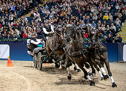 FEI World Cup Driving™ Stockholm  Friends Arena, Sweden Horse Show<br /> Edouard Simonet, BEL were on the 3:rd place in FEI Driving World Cup.<br /> Photo: FEI/Roland Thunholm