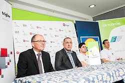 Ales Klement, Damijan Lazar, Darko Đurić, Slovenian paralympic swimmer and Alen Kramar during Media day of the National Paralympic Committee (NPC) of Slovenia, on April 26, 2016 in Olympic pool Radovljica, Slovenia. Photo by Vid Ponikvar / Sportida