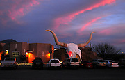 The Longhorn Grill draws a crowd in Amado, Arizona, USA.