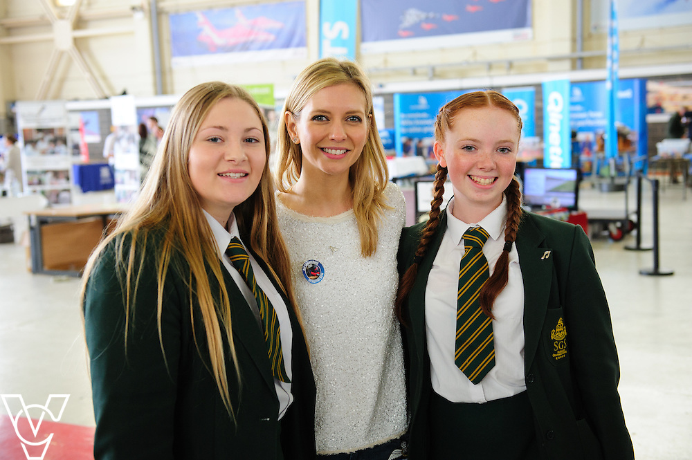 EBP/RAF Scampton Red Stem event 2016.<br /> <br /> Rachel Riley with students at lunchtime<br /> <br /> Picture: Chris Vaughan/Chris Vaughan Photography<br /> Date: June 13, 2016