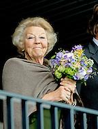ROTTERDAM - princess beatrix at the chio horses COPYRIGHT ROBIN UTRECHT ROTTERDAM - Prinses Beatrix volgt de wedstrijden op CHIO vanaf de tribune. paardensport ,  paarden