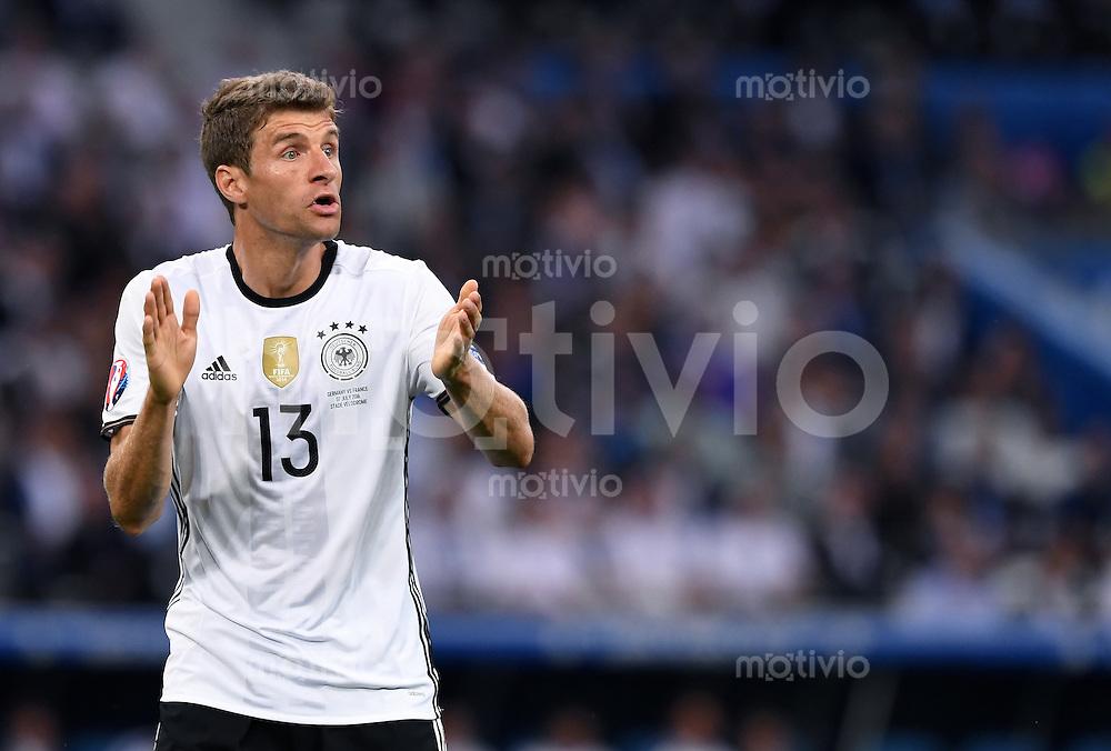FUSSBALL EURO 2016 HALBFINALE IN MARSEILLE  Deutschland - Frankreich                 07.07.2016 Thomas Mueller (Deutschland)