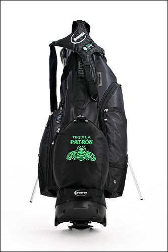 Photo of Patron Tequila golf bag for www.patrontequila.com e-commerce site.  Taken November, 2004.
