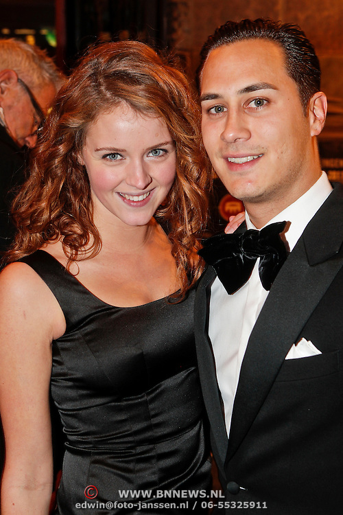 NLD/Amsterdam/20101214 - Inloop premiere LOFT, Liza Sips en Joel Davans