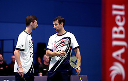 Chris Coles (Capt) of Bristol Jets and Richard Eidestedt of Bristol Jets during their men's doubles match against Team Derby - Photo mandatory by-line: Robbie Stephenson/JMP - 07/11/2016 - BADMINTON - University of Derby - Derby, England - Team Derby v Bristol Jets - AJ Bell National Badminton League