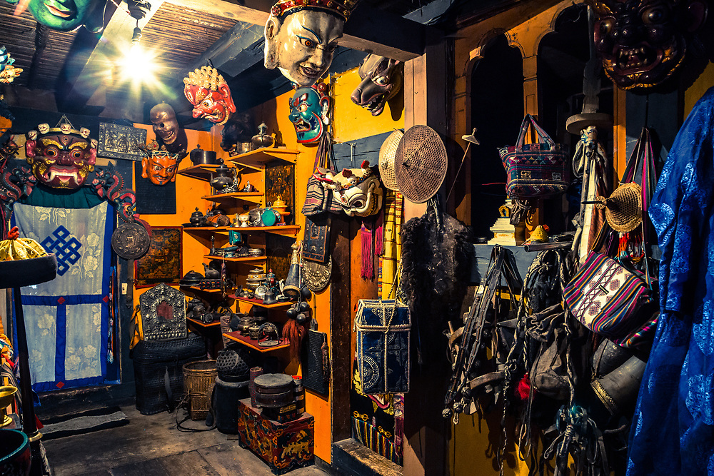 A local antique shop in Bhutan.