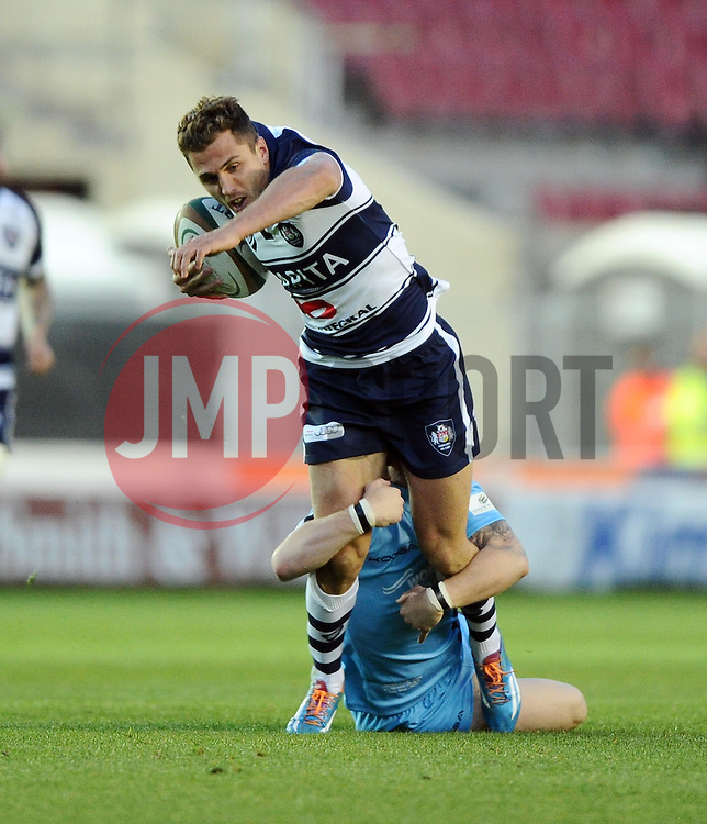 Bristol Fullback Jack Wallace breaks free  - Photo mandatory by-line: Joe Meredith/JMP - Mobile: 07966 386802 - 20/05/2015 - SPORT - Rugby - Bristol - Ashton Gate - Bristol Rugby v Worcester Warriors - Greene King IPA Championship - Play-Off Final