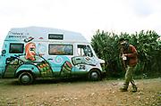 Man beside van in Spain, January 2014