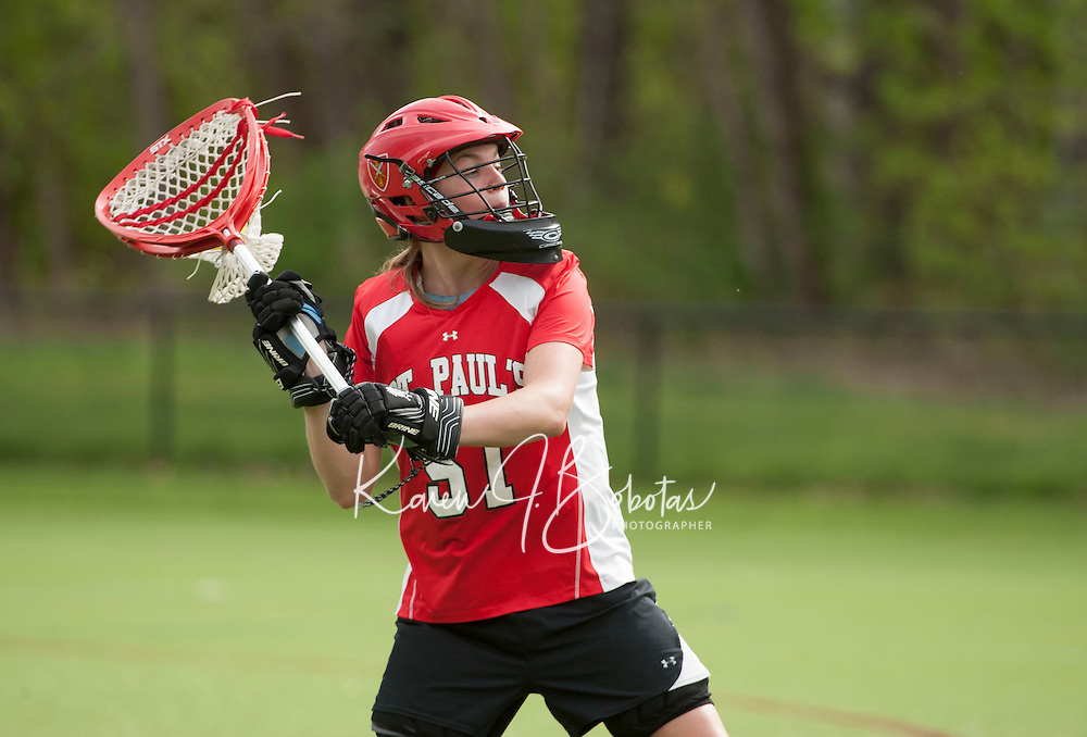 St Paul's School girls varsity Lacrosse versus Governor's May 8, 2013.  Karen Bobotas Photographer
