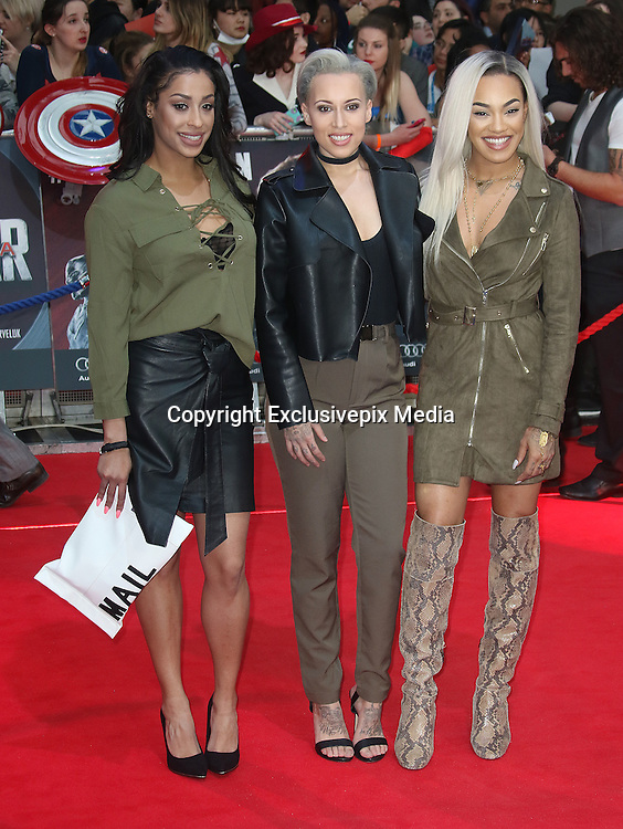 April 26, 2016 -Stooshe attending 'Captain America: Civil War' European Film Premiere at Vue Westfield in London, UK.<br /> ©Exclusivepix Media