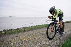 Anna Knauer (Parkhotel Valkenburg) at Omloop van Borsele Time Trial 2016. A 19.9 km individual time trial starting and finishing in 's-Heerenhoek, Netherlands on 22nd April 2016.