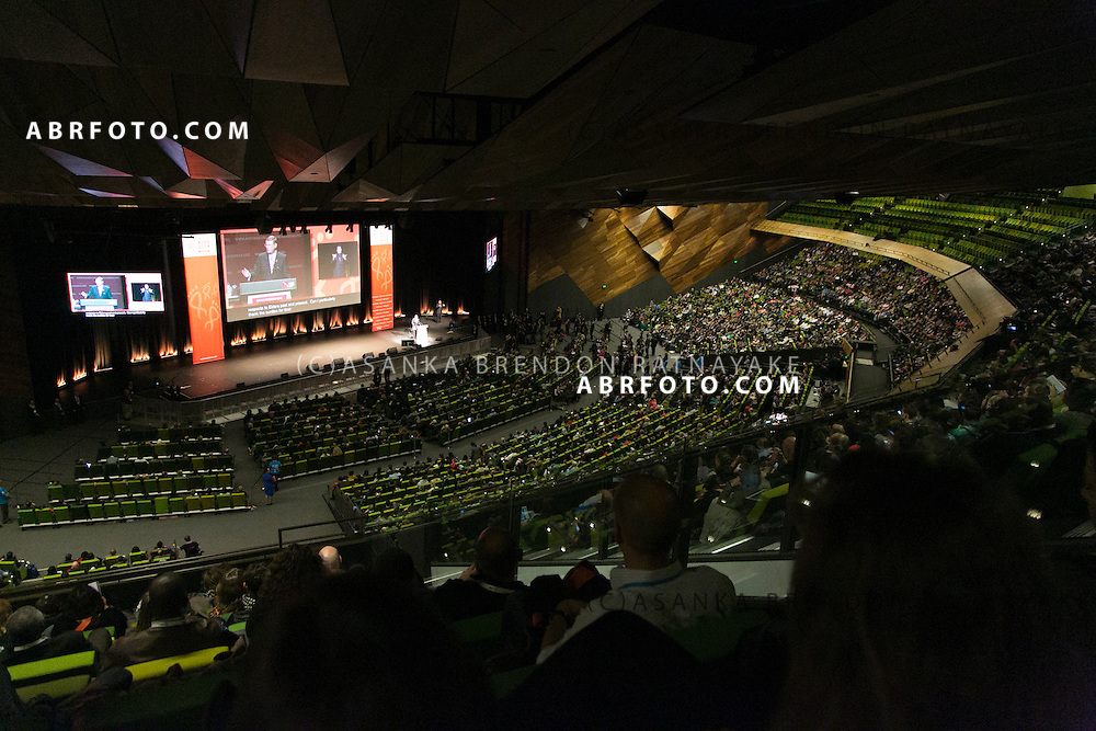 The audience during the official opening ceremony of the 20th International AIDS conference held in Melbourne Australia on July 20, 2014. This conference takes place a few days after the death of a number of high profile delegates and researchers due to attend whom flew on Malaysian Airlines flight MH17. Photo credit : Asanka Brendon Ratnayake