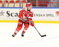 2018-11-14 | Ljungby, Sweden: Troja-Ljungby (45) Oscar Öhman during the game between Troja Ljungby and Mörrums GoIS at Ljungby Arena ( Photo by: Fredrik Sten | Swe Press Photo )<br /> <br /> Keywords: Icehockey, Ljungby, HockeyEttan, Troja Ljungby, Mörrums GoIS, Ljungby Arena div1, division, troja, ljungby, mörrum, gois,