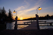 Poconos, Northeast Pennsylvania, Lake Harmony, Carbon County, Dock and Sunset