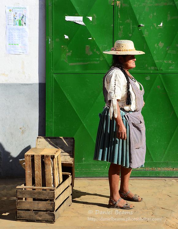 Market seller in Samaipata, Santa Cruz, Bolivia